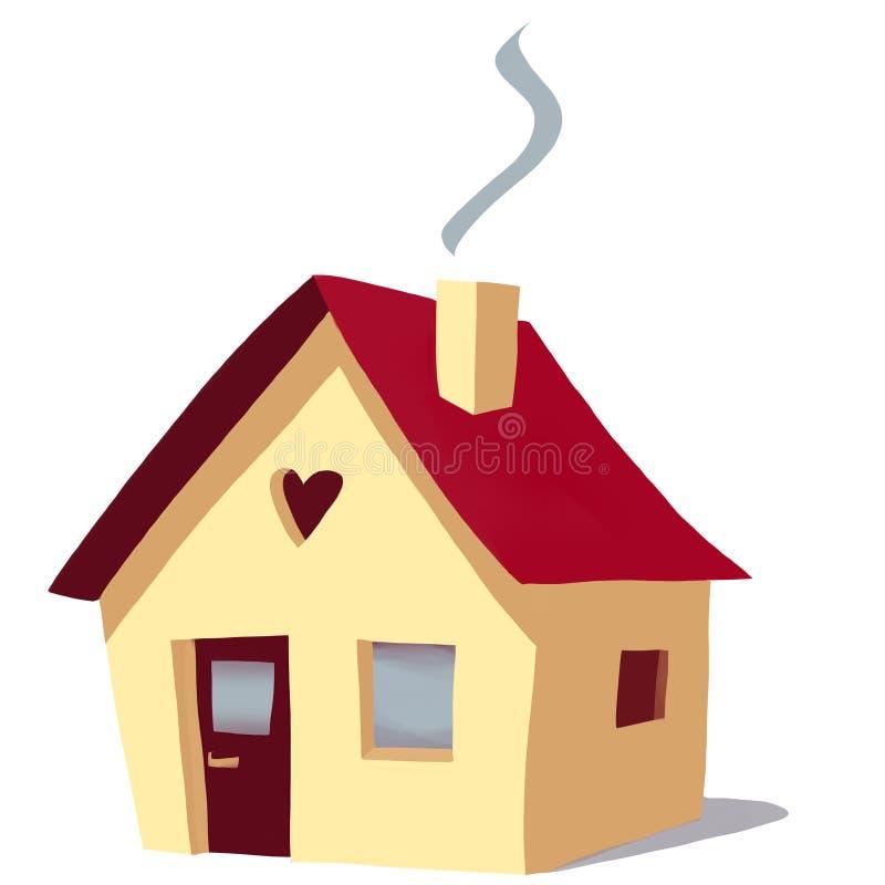 Haus, Haus lizenzfreie abbildung