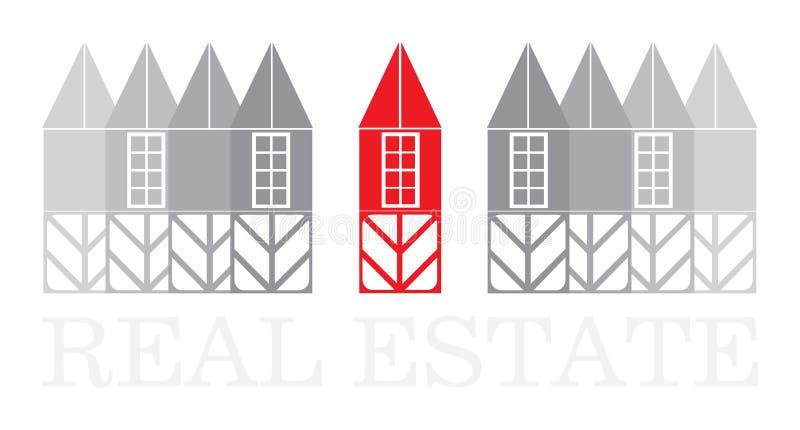 Haus-Haus für Verkauf stock abbildung