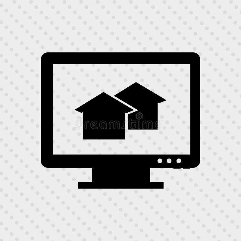 Haus-Haus für Verkauf lizenzfreie abbildung