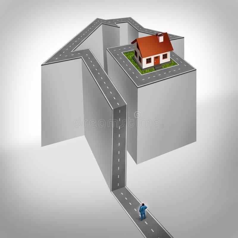 Haus-Herausforderung stock abbildung