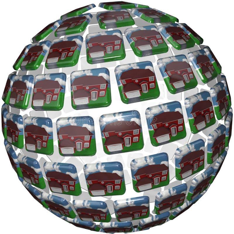 Haus-Hintergrund-Häuser In Der Nachbarschafts-Gemeinschaft Stockfoto
