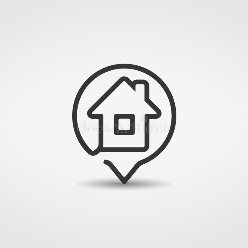 Haus-Ikone lizenzfreie abbildung