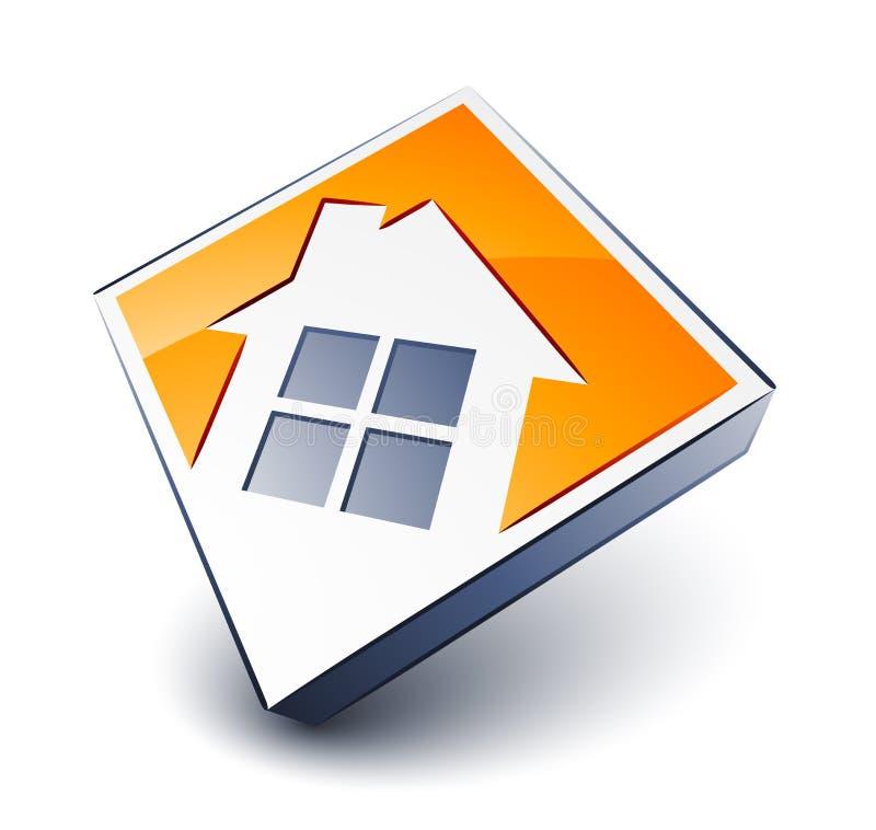 Haus-Ikone stock abbildung