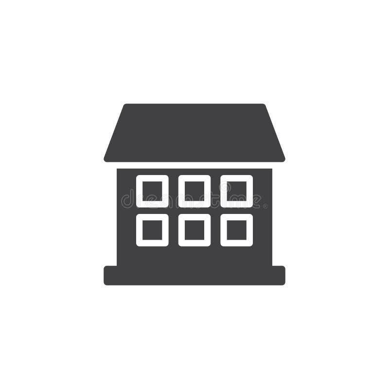 Haus-Ikonen-Vektor vektor abbildung