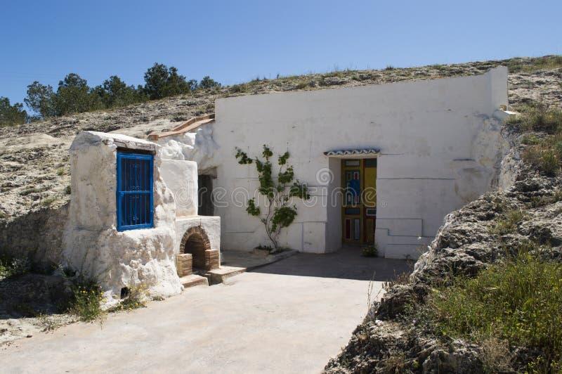 Haus im Berg stockfoto