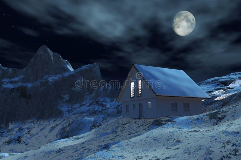 Haus im Berg stock abbildung