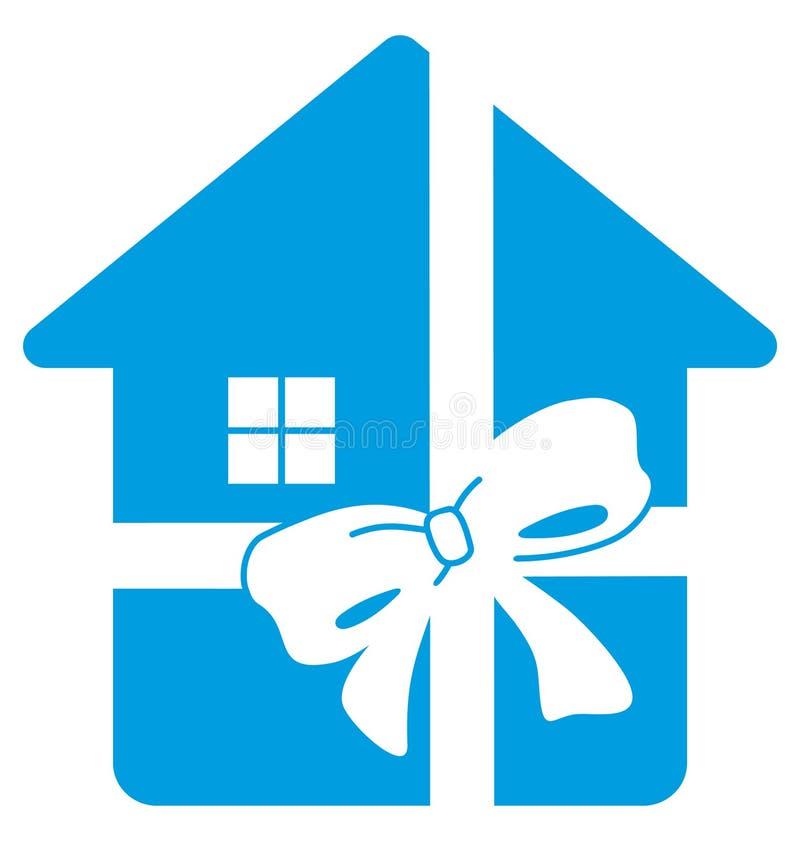 Haus im Geschenk vektor abbildung