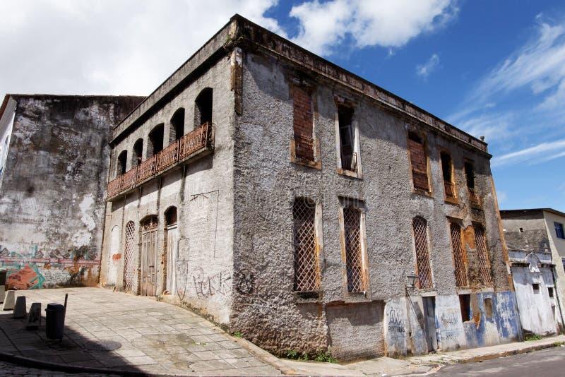 Haus im Ruine-Sao Luis tun Maranhao lizenzfreie stockfotos