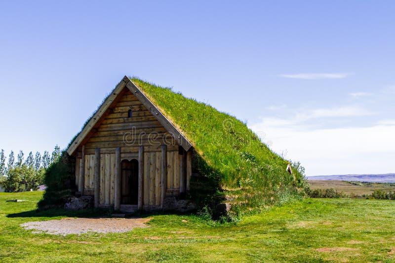 Haus ist ein Museum im Freien Island 11 06,2017 stockfotos