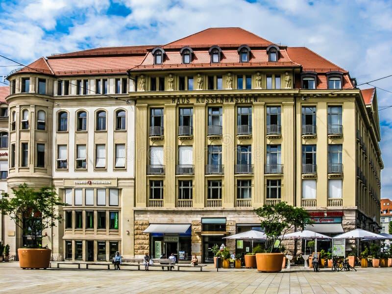 Haus Kossenhaschen i Erfurt, Tyskland royaltyfri fotografi