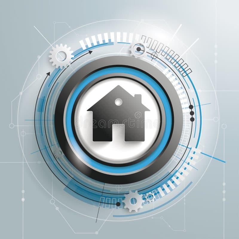 Haus-Leiterplatte lizenzfreie abbildung
