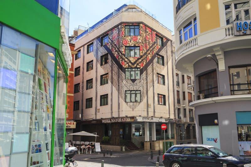 Haus mit einem Schal, Madrid stockfotos