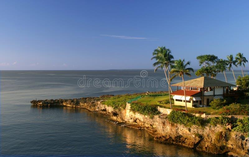 Haus mit einer Ansicht lizenzfreies stockfoto