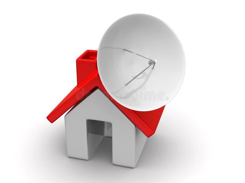 Haus mit Satelliten vektor abbildung