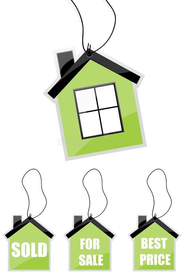 Haus mit unterschiedlichem Text vektor abbildung