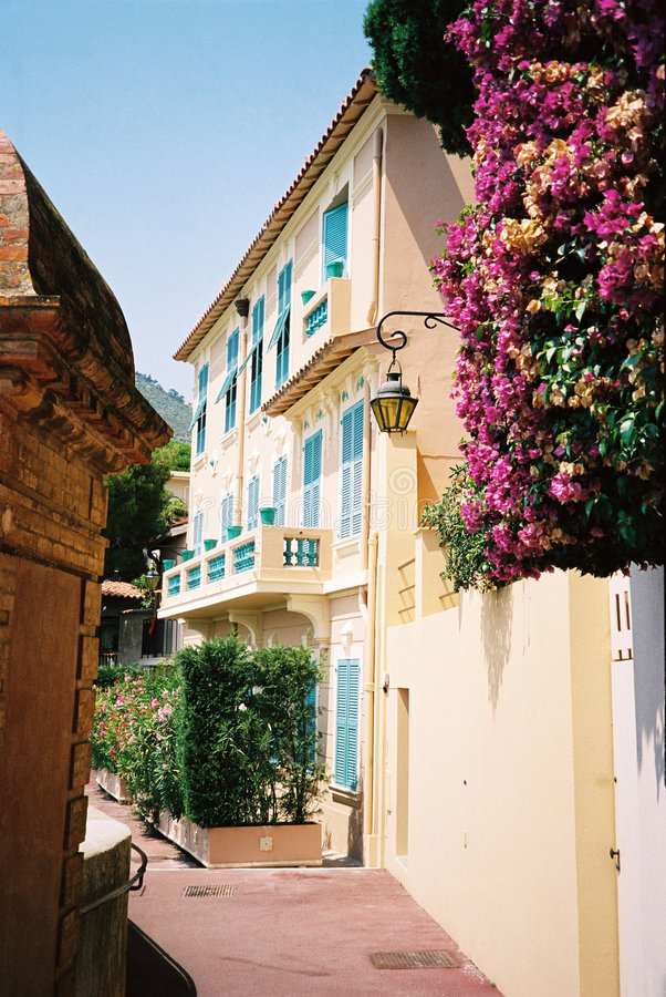Haus in Monte Carlo stockfotografie