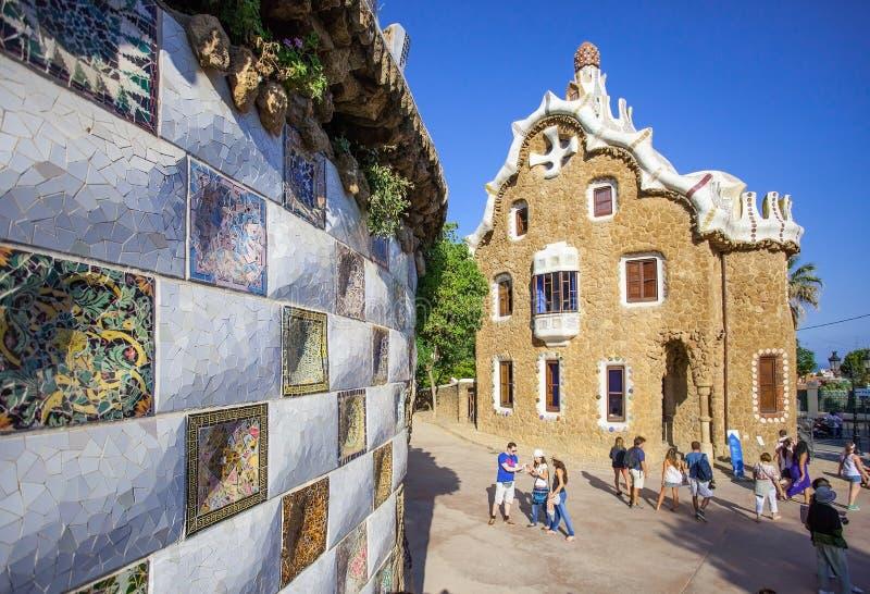 Haus-Museum von Antonio GaudÃ, Barcelona lizenzfreies stockbild