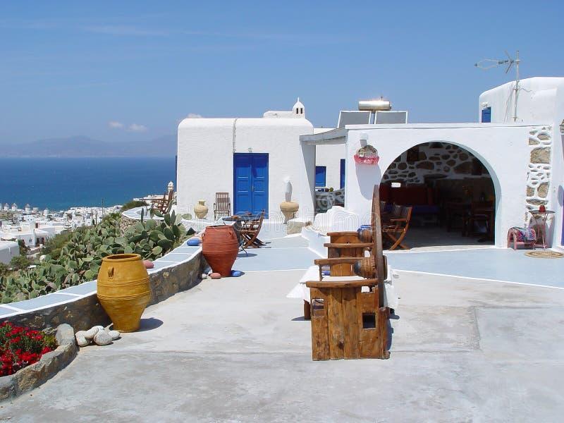 Haus in Mykonos lizenzfreie stockfotos