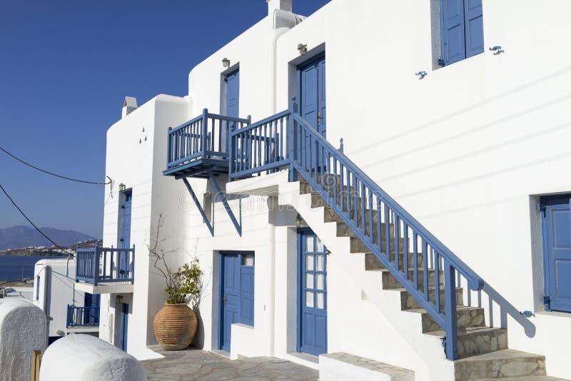 Haus in Mykonos stockbild