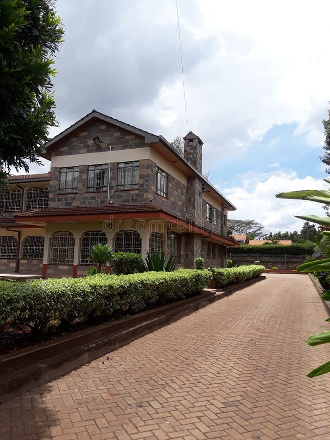 Haus Nairobi Kenia stockbild