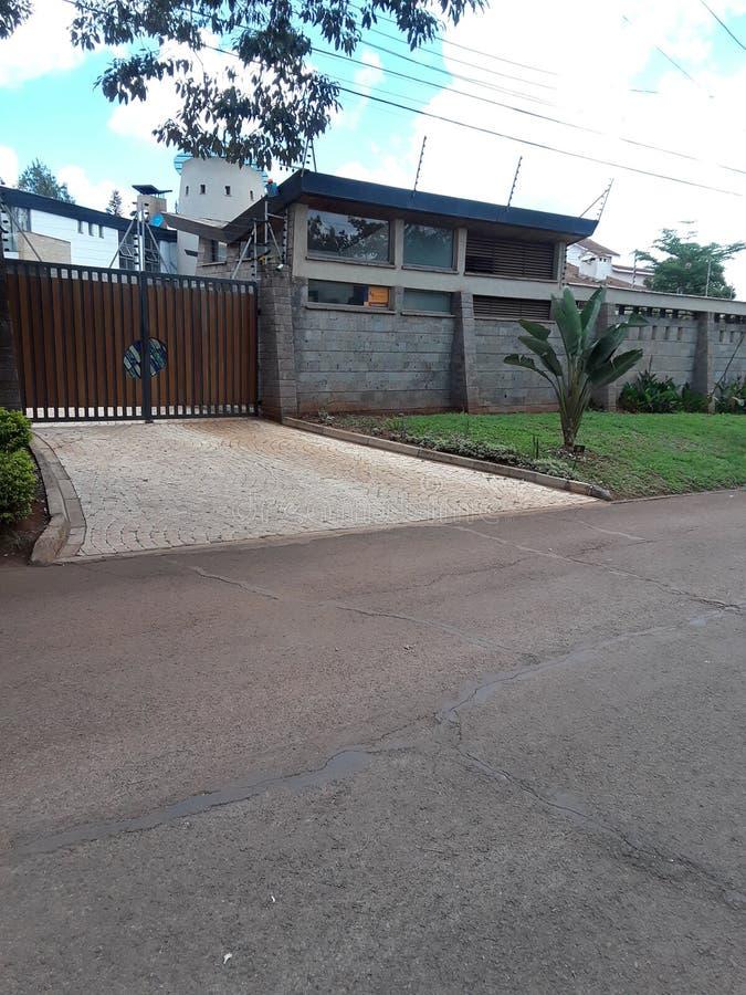 Haus Nairobi Kenia stockfotografie