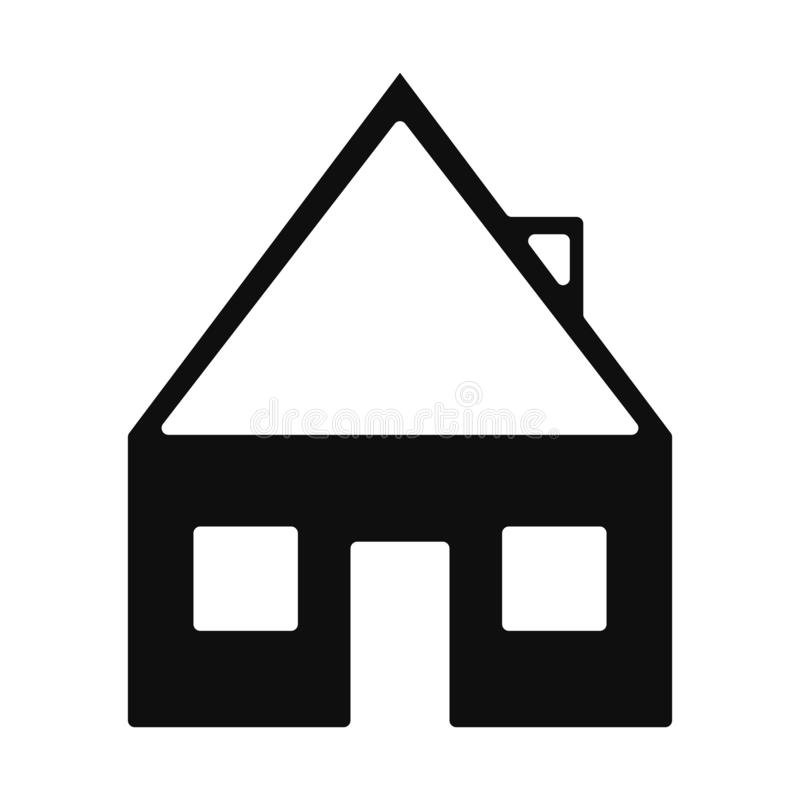 Haus- oder Ausgangsikonenentwurfssammlung für Website oder Visitenkarte eps10 stock abbildung