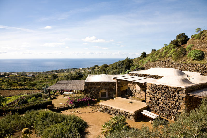 Haus, Pantelleria lizenzfreie stockbilder