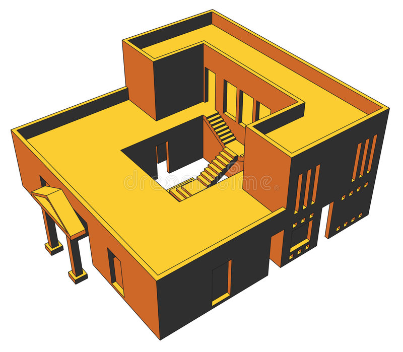 Haus-Perspektive 1 stock abbildung
