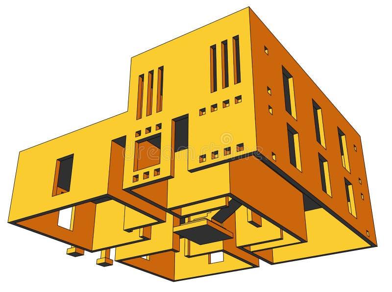 Haus-Perspektive 3 lizenzfreie abbildung