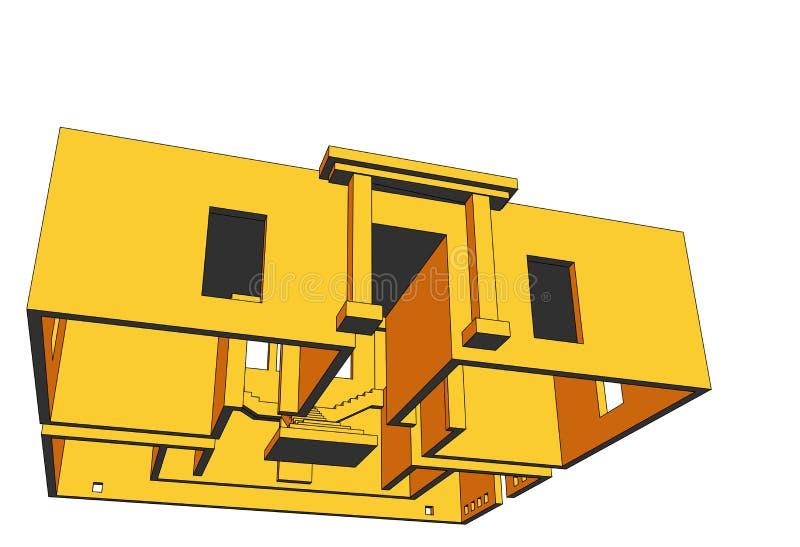 Haus-Perspektive 4 lizenzfreie abbildung