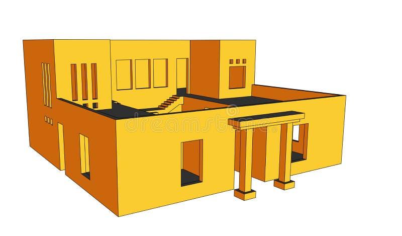 Haus-Perspektive 5 vektor abbildung
