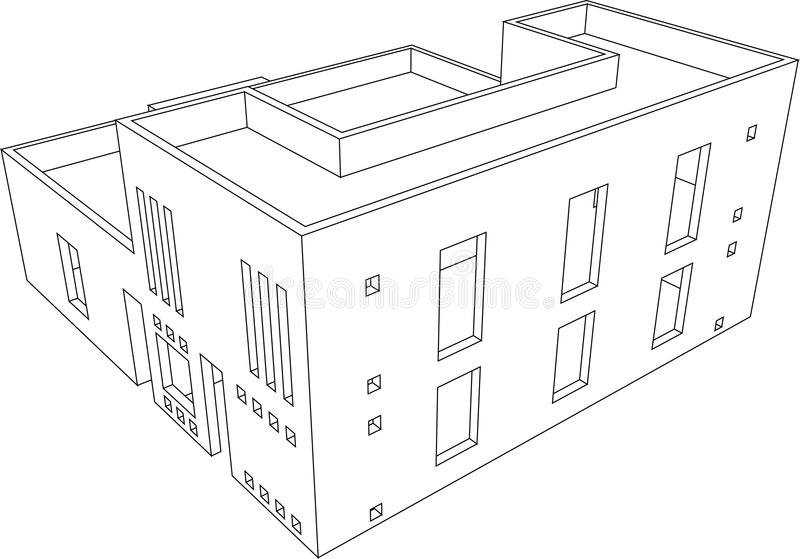 Haus-Perspektive 9 stock abbildung