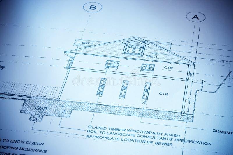 Haus-Pläne lizenzfreies stockbild