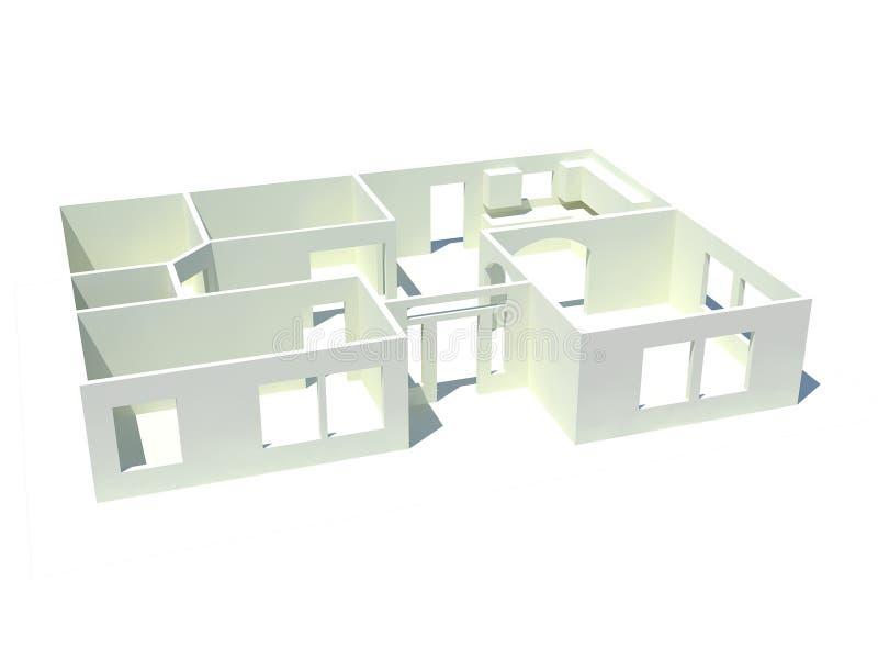 Download Haus Pläne Stock Abbildung. Illustration Von Innen, Plan   8779263