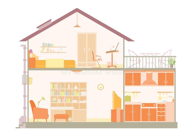 Haus-Plan lizenzfreie abbildung