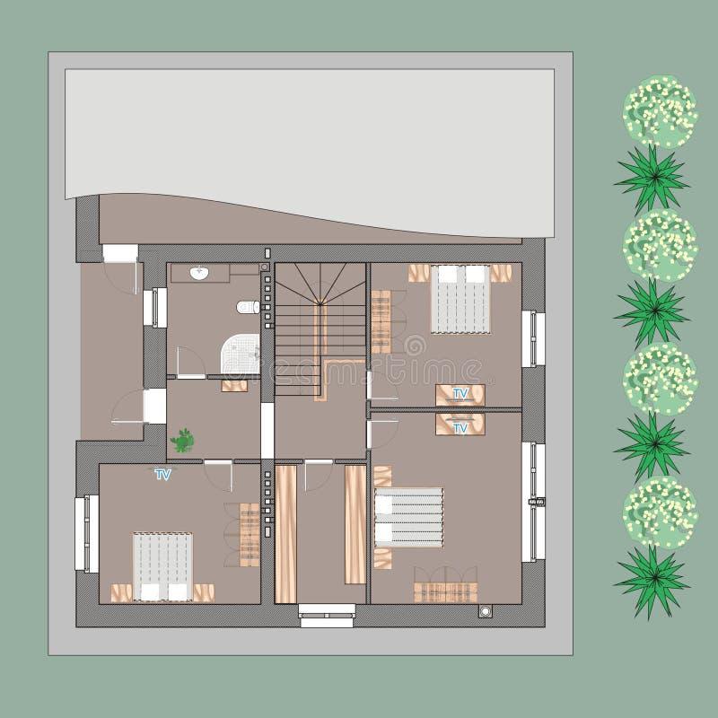 Exceptional Download Haus Plan Stock Abbildung. Illustration Von Fußboden   39708383