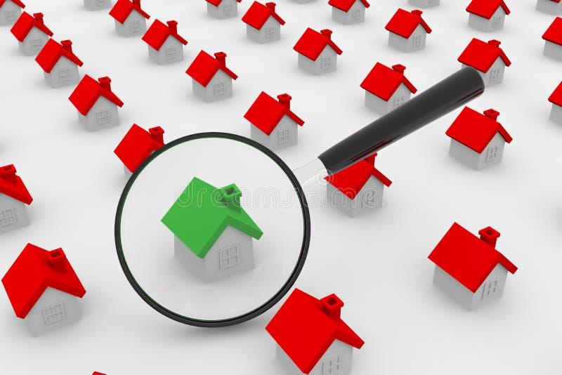 Haus-Recherche lizenzfreie abbildung