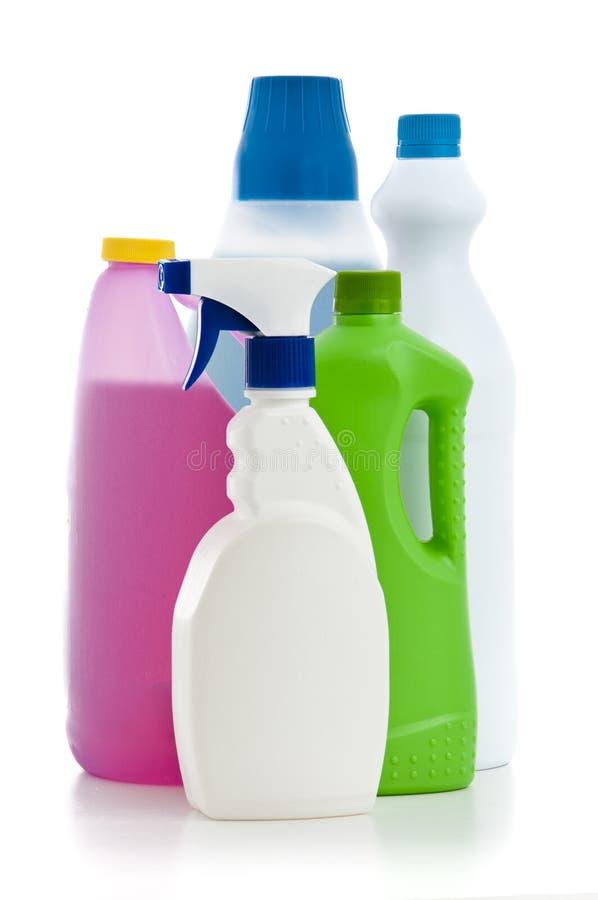 Haus-Reinigungs-Chemikalien lizenzfreie stockbilder