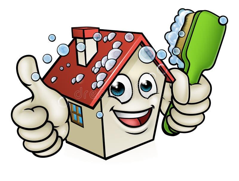 Haus-Reinigungs-Zeichentrickfilm-Figur vektor abbildung
