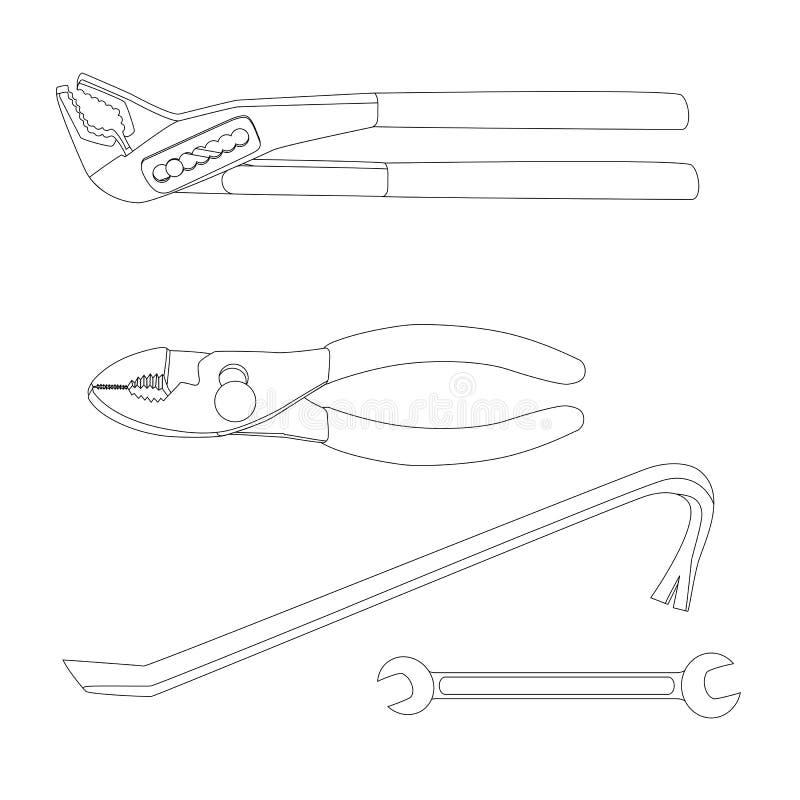Haus repariert Werkzeuge stock abbildung