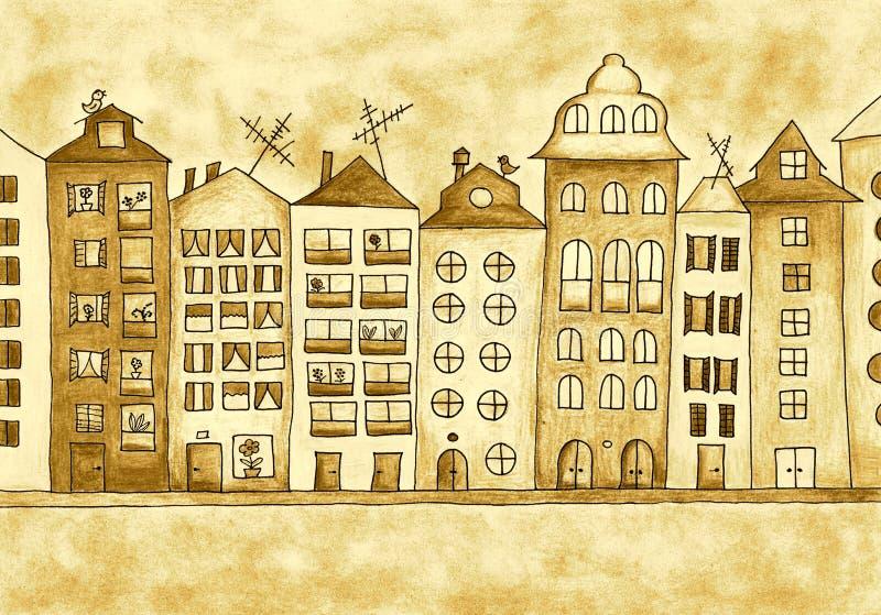 Haus - Sepia stock abbildung