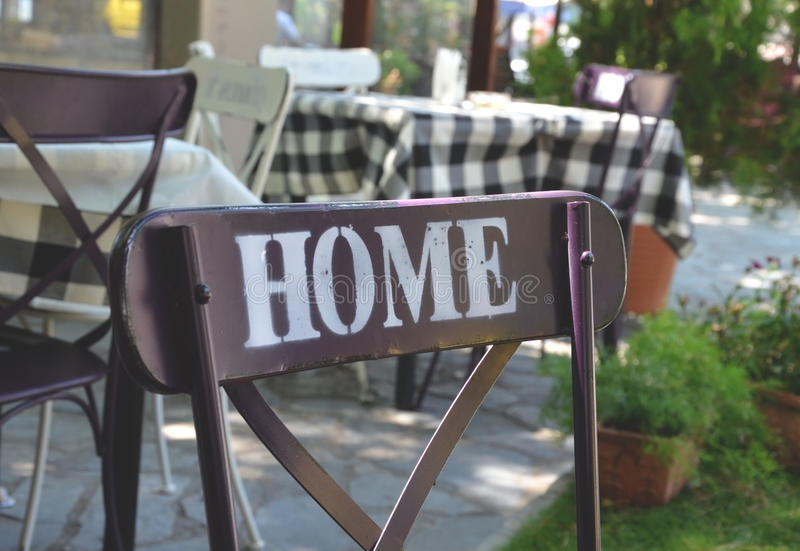Haus, Stuhl, Restaurant lizenzfreie stockfotografie