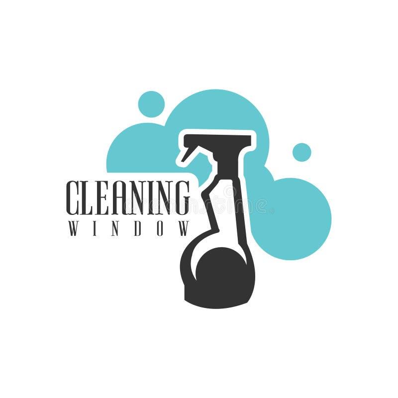 Haus-und Büro-Reinigungs-Service-Miete Logo Template With Spray ...