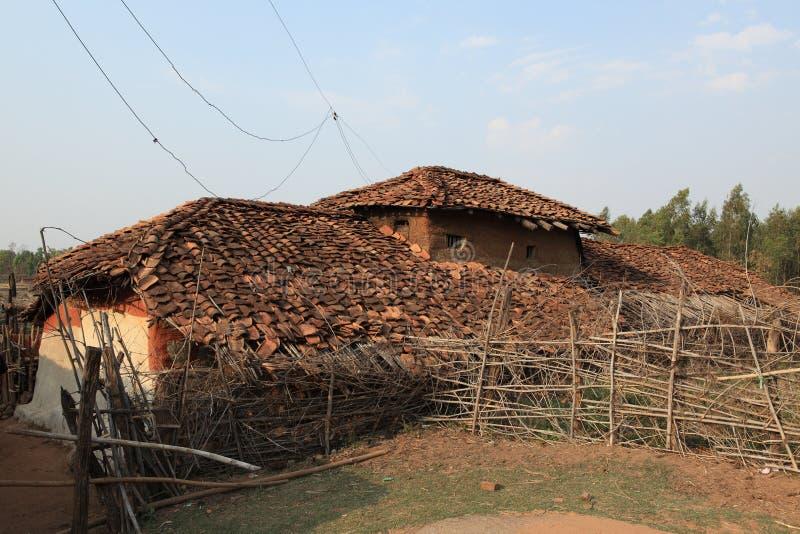 Haus und Dorf in Indien stockbilder