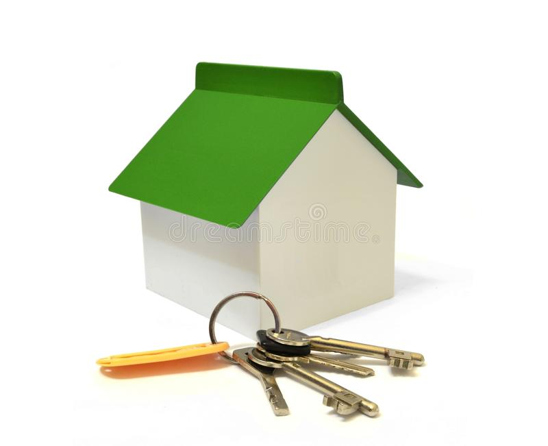 Haus und ein Schlüsselbund lizenzfreie stockfotos