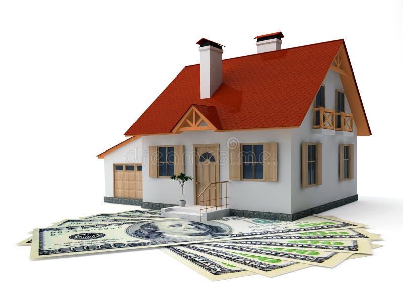 Haus und Geld lizenzfreie abbildung