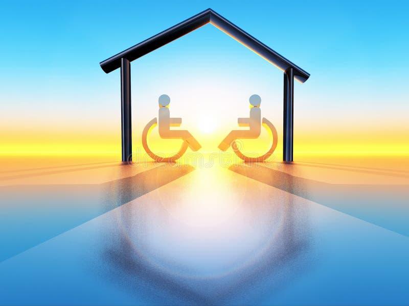 Haus und Handikap lizenzfreie abbildung
