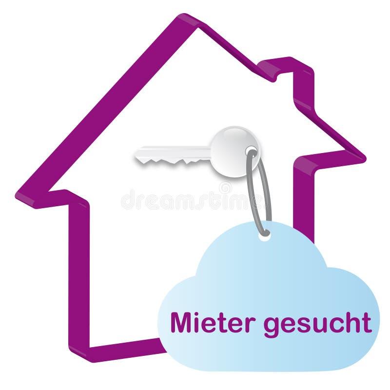 Haus- und Home-Taste vektor abbildung
