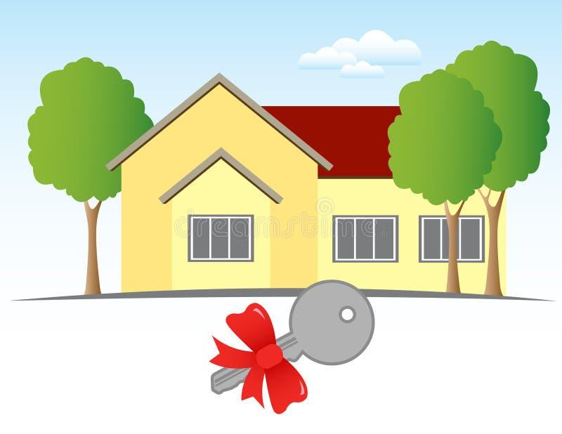 Haus und Taste lizenzfreie abbildung