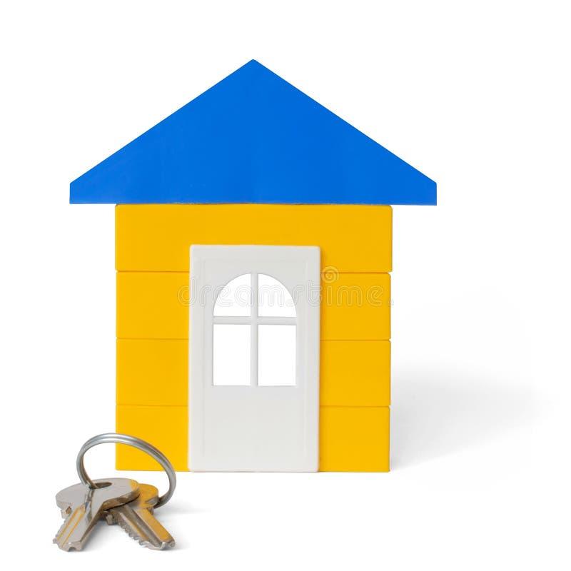 Haus und Tasten lizenzfreie stockfotos